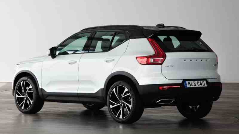 volvo xc40 rear. booking open in india