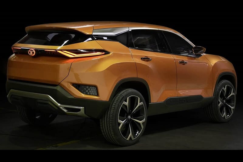 tata harrier india rear design