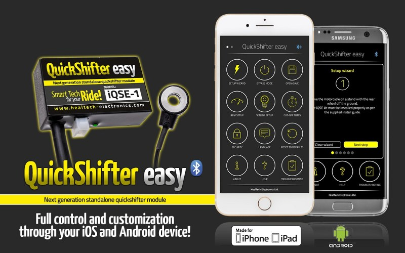 healtech quick shifter iqse app for motorcycles