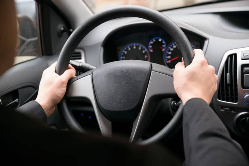 both hands on steering avoids tramlining