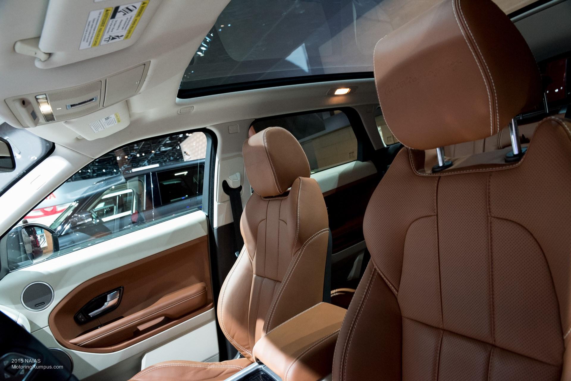 2015 NAIAS Range Rover Evoque Tan Interior Motoring Rumpus