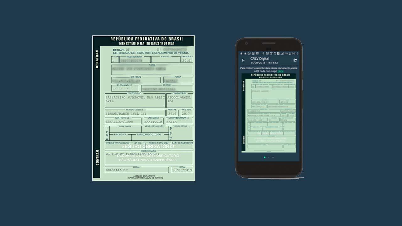 CRLV digital para Uber