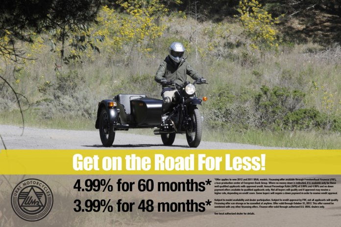 Ural Motorcycles Announces Fall Retail Financing Incentives
