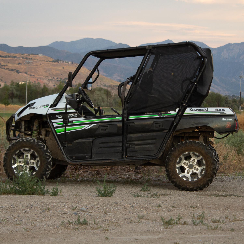 Rear Window Kawasaki Teryx4 4 Door Black Updated