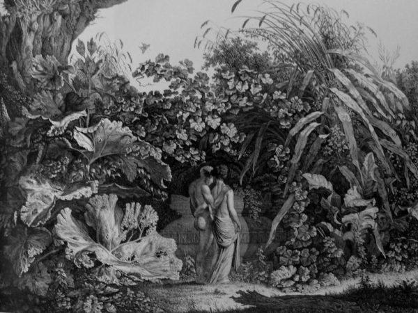 Bildliche Darstellung eines locus amoenus in einer Zeichnung des Künstlers Carl Wilhelm Kolbe