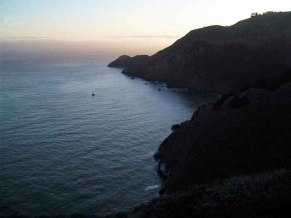 Blick auf den Pazifik von den Marin Headlands in Kalifornien aus