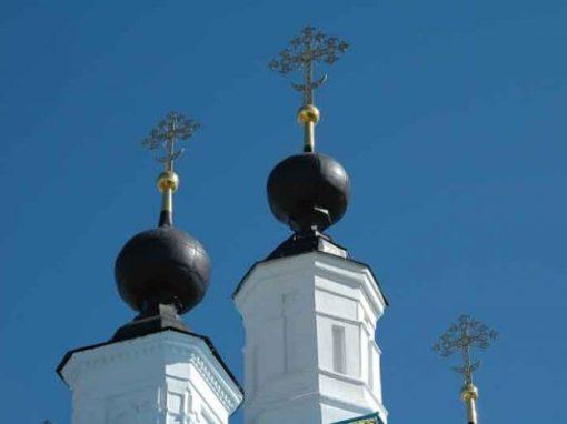 Tuerme einer Orthodoxen Kirche
