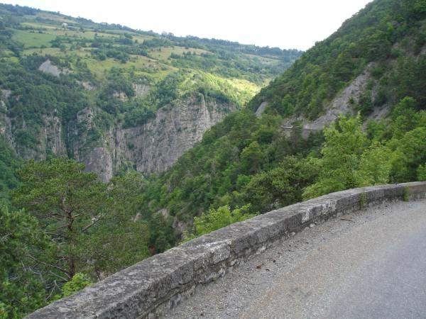 Corniche du Drac bei einer Motorradtour zur Alpe d'Huez