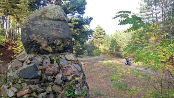 Friedrichstein bei Goschen zum Gedenken an den Rückzug Friedrichs d. Gr. nach der Schlacht bei Kunersdorf 1759 anlaesslich einer Lausitztour mit dem Motorrad