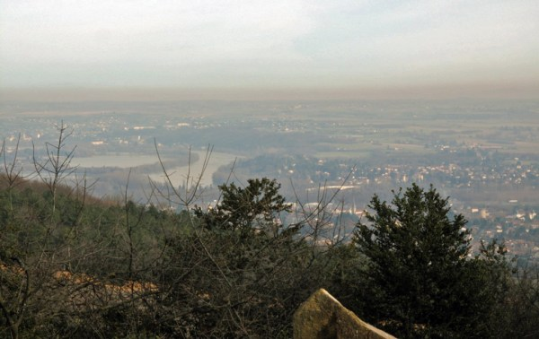 Blick über das Rhonetal bei Lyon
