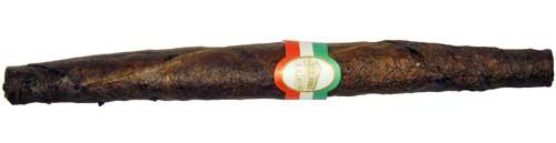 Italienische Toscani-Zigarre mit grün-weiß-roter Bauchbinde
