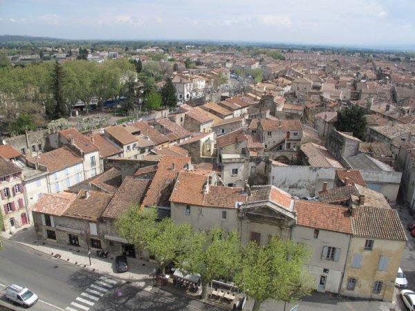Tarascon in Südfrankreich von oben gesehen