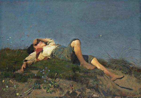 Gemälde von Franz von Lenbach (1860), Hirtenknabe