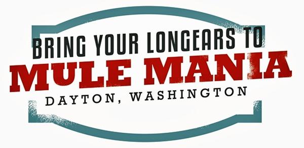 Werbeschild für die Mule Mania in Dayton, WA