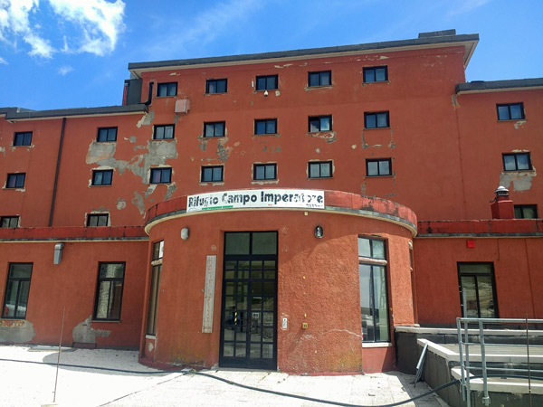 Rifugio Campo Imperiale, besucht bei einer Motorradtour nach Süditalien