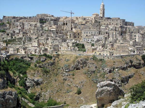 Felsenhäuser in Matera