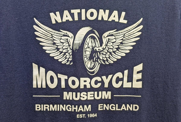 National Motorcycle Museum Birmingham, UK: Name und geflügeltes Rad