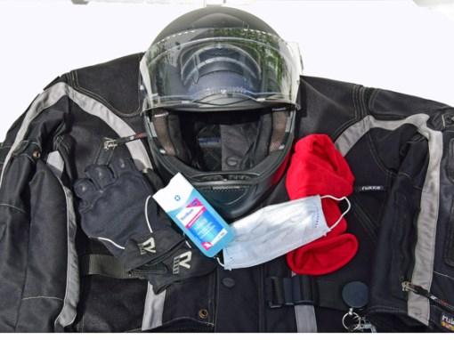 motorradbekleidung mit corona hygieneausstattung