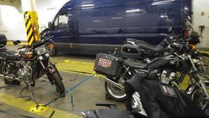 Motorradtransporte mit der Fähre