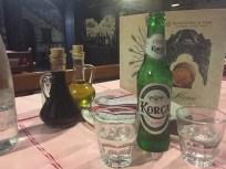 Raki rruschi mit Bier