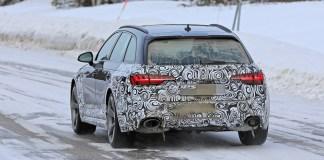 Face arrière de l'Audi RS4 Face lifte