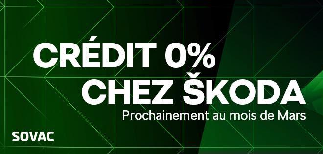 Le Crédit à taux d'intérêt de 0% by Skoda Algérie