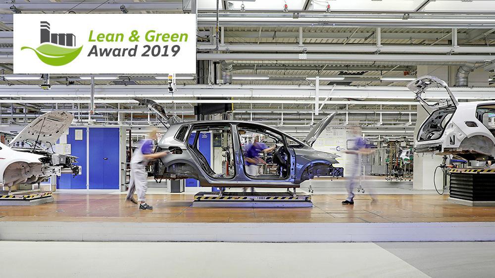 "L'usine Volkswagen de Wolfsburg reçoit le prix environnemental ""Lean and Green Management Award"""