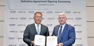 Hyundai Motor Group et Aptiv s'associent pour la conduite autonome