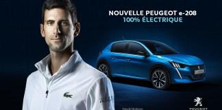 PEUGEOT e-208 avec Novak Djokovic