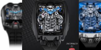 Jacob & Co. x Bugatti Chiron Tourbillon dévoilent une montre exclusive dotée de son propre moteur W16 miniaturisé