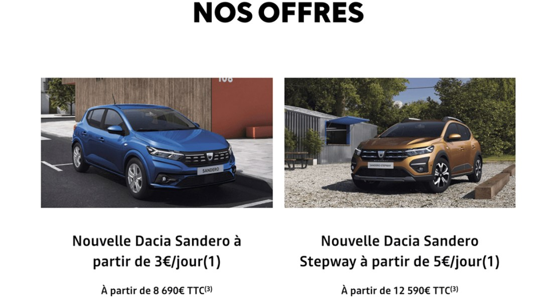 Dacia Sandero Duster 2021
