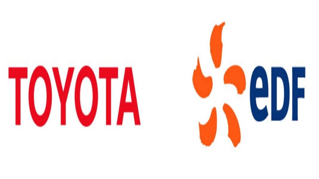 Logo EDF et Toyota