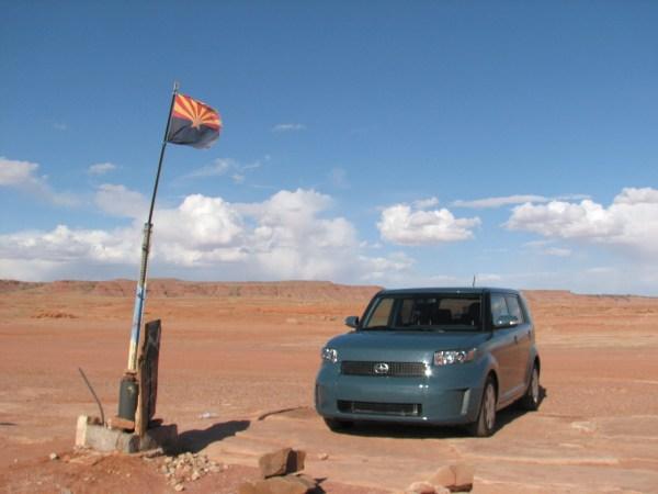 En una Scion xB manejé 1,300 en cinco días por el suroeste de USA. Foto: Andrés O'Neill, Jr.