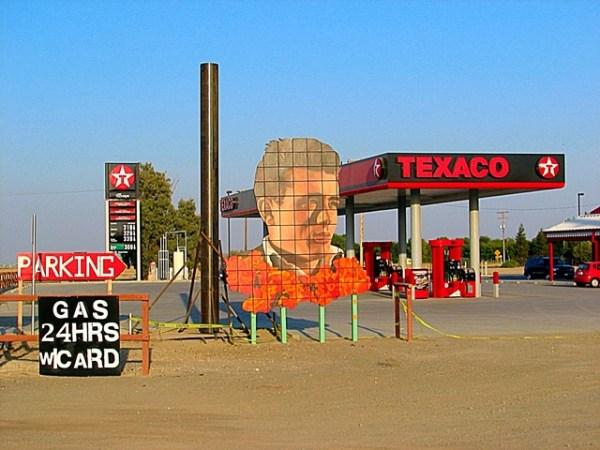 Así lucía en el 2009 la estación de gasolina en la localidad de Lost Hills, California, en la que James Dean hizo su última parada. Fotos: Andrés O'Neill, Jr.