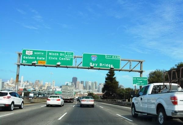 Saliendo de San Francisco
