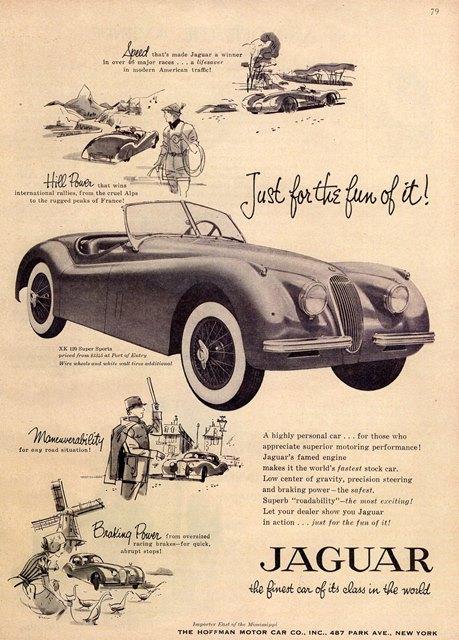 Un anuncio de la época en el que en más de una vez, enfatiza su velocidad. El precio era de $3,345.