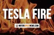 Tesla Fire Erupts Out Of Nowhere