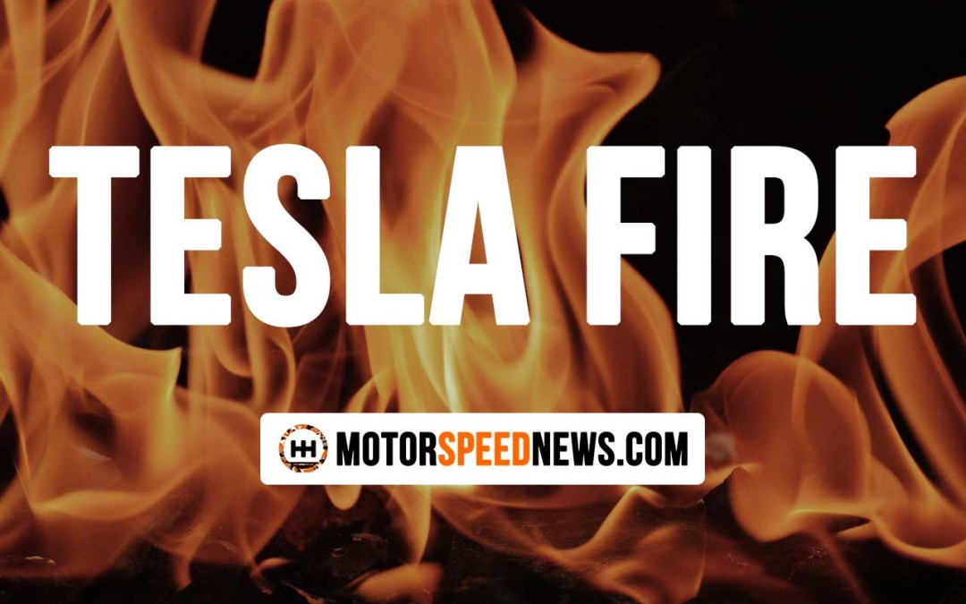 A Tesla Fire Erupts Out Of Nowhere