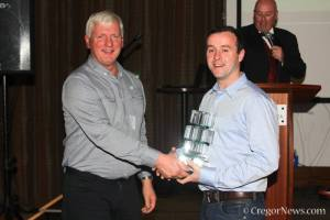 Collecting my Award for 3rd in The Finol Star of Tomorrow Championship. Not bad for my first year! Image from Cregor Elliott.