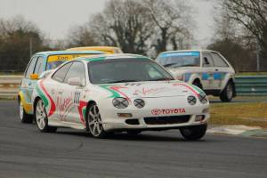 Parkes' Celica looked like a handful- but he took the honours in Future Classics