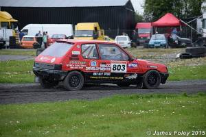 Peter McGarry drove well to take Stock Hatch 8v honours. Image from James Foley