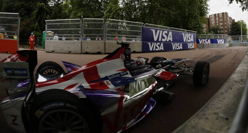 Winner of the Formula E Finale, Sam Bird. Virgin Racing