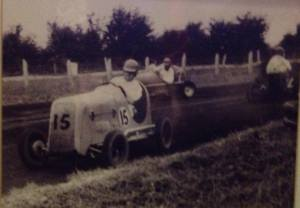 Grandad, running number 15, pulling on a smoke while applying opposite lock!