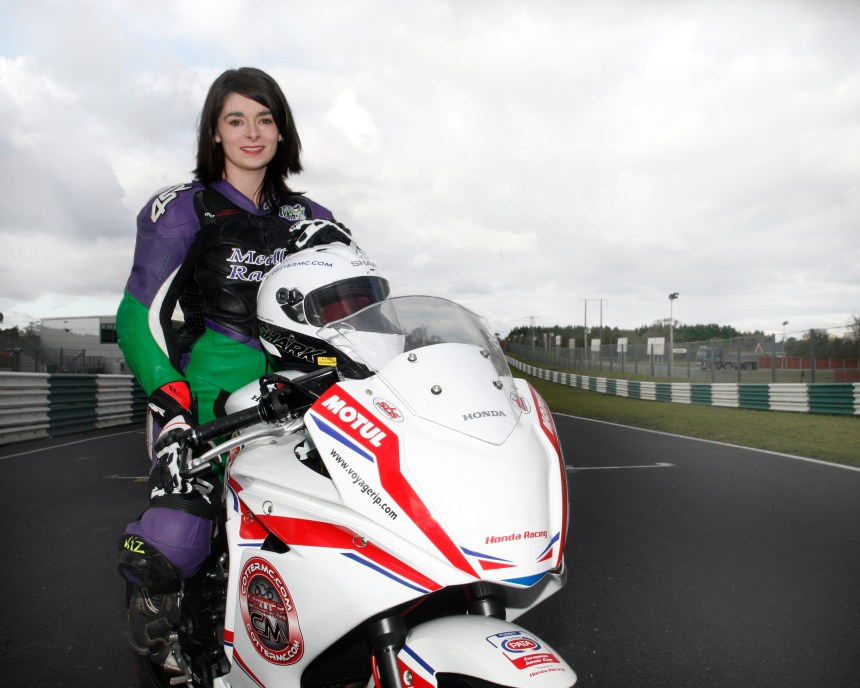 Nicole Lynch from Clondalkin, Dublin is first Irish female rider to ever be selected for the European Junior Motorcycle Cup, which is held at eight of the European rounds of the FIM Motul World Superbike Championship. Photo: Silver Image