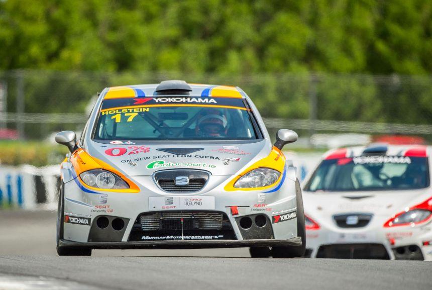 Holstein took SEAT Supercup race two in the Enniscorthy Motors/Motorsport.ie car.