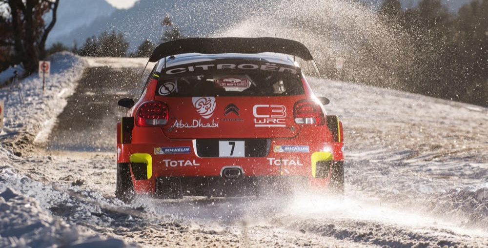 Kris Meeke (GBR) competes during the FIA World Rally Championship 2017 in Monte Carlo, Monaco on January 18, 2017
