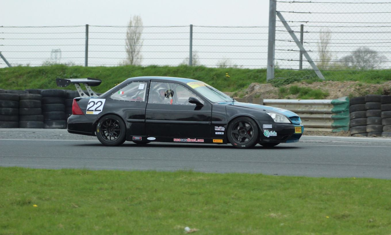 Peter Barrable #22 racing in Irish Supercar Championship Powered by PIRELLI, Mondello 9th April. Image courtesy of Michael Chester