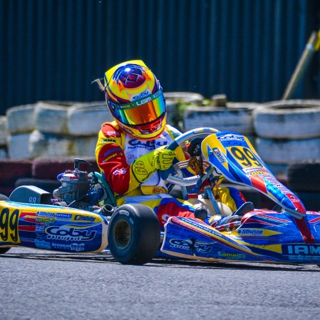 Alyx Coby on track at Round 4 of the Motorsport Ireland Karting Championship