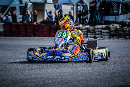 Alyx Coby at Round 9 of the Motorsport Ireland Karting Championship. Photo: Marc Quinlivan