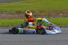 Alyx Coby at Round 9 of the Motorsport Ireland Karting Championship. Photo: Marc Quinlivan